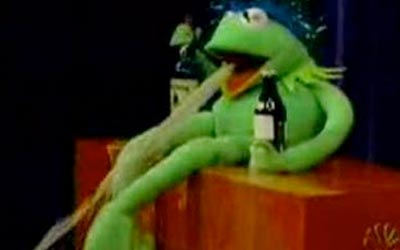 Vomiting Kermit, forever in our hearts.