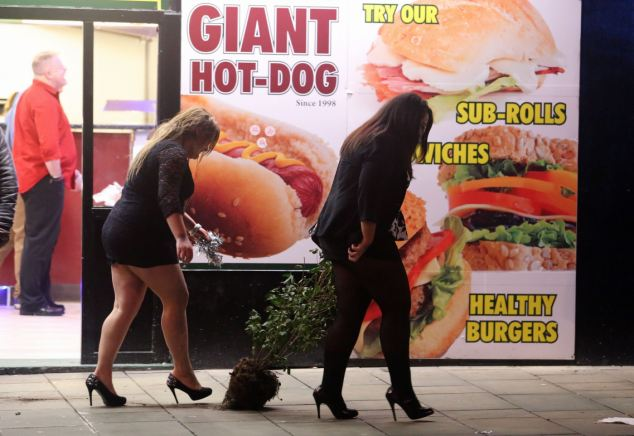"Here's nature lover again, ""giant hotdogs"" indeed!"