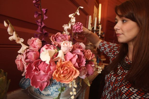 Even the floral arrangements are edible.