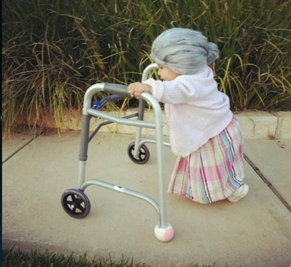 baby old lady