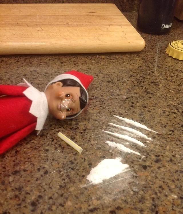 Coked up elf.