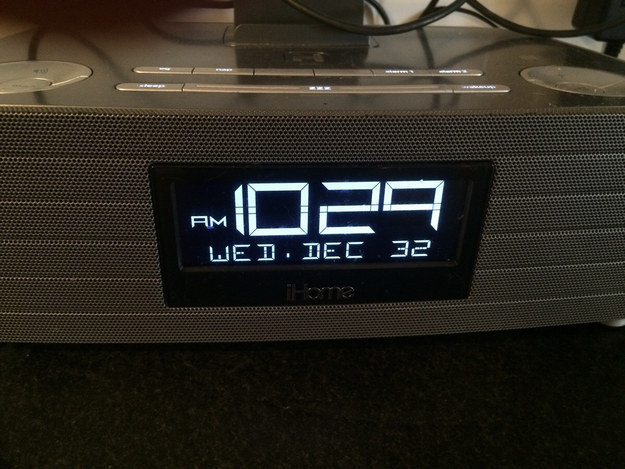Go home clock-radio, you're drunk.