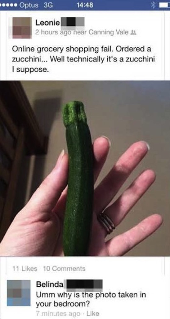 Zuchini's out of the bag!